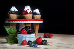Berries and Sugar Cones Stock Photos