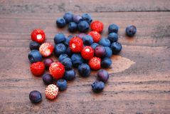 Berries on the table Royalty Free Stock Image