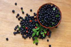 Berries on the table. Royalty Free Stock Photos