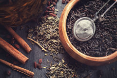 Berries tea composition Stock Images