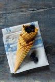 Berries in waffle cones Stock Image