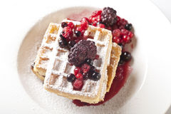 Berries Waffles Royalty Free Stock Photos