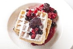 Berries Waffles Royalty Free Stock Photos
