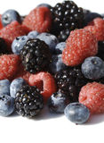 Berries on white royalty free stock images