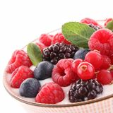 Berries on white Royalty Free Stock Photography