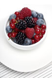 Berries in white cup - close-up Stock Photography