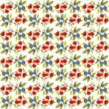 Berries white seamless background Stock Photo
