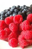 Berries With Raspberries In Foreground Stock Images