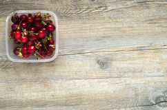 Berries on a wooden table. In natural light Stock Photo