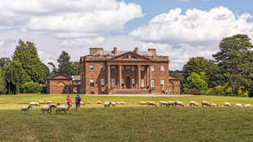 Berrington Hall, Herefordshire, England. The west front of Berrington Hall, a neoclassical mansion that was built in 1778-81 for the son of the 3rd Earl of Stock Photos