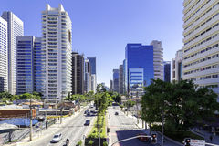 Berrini Avenue in Sao Paulo, Brazil Royalty Free Stock Photography