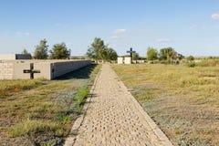 Berro en el cementerio alemán de Rossoshk Stalingrad, Rusia fotos de archivo