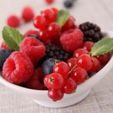 Berry. Close up on assortment of berries Royalty Free Stock Photo