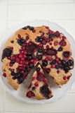 Berry Almond Cake Royalty Free Stock Images