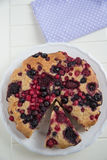 Berry Almond Cake Royalty Free Stock Image