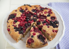 Berry Almond Cake Stock Image