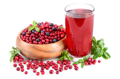 Berry And Juice Stock Image