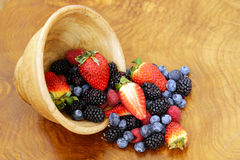 Berry assortment - raspberries, blackberries, strawberries, blueberry Royalty Free Stock Images