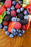 Berry assortment - raspberries, blackberries, strawberries, blueberry Royalty Free Stock Image