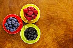 Berry assortment - raspberries, blackberries, strawberries, blueberry Royalty Free Stock Photography