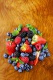 Berry assortment - raspberries, blackberries, strawberries, blueberry Stock Images