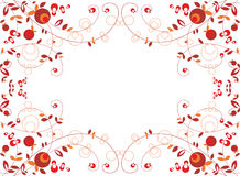 Berry background. Berry ornament on white background Stock Images