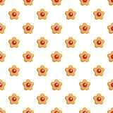 Berry biscuit pattern seamless vector. Repeat for any web design stock illustration
