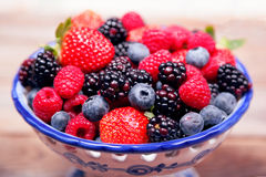 Berry bowl 4 royalty free stock photo