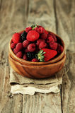 Berry in the bowl Royalty Free Stock Images