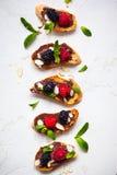 Berry bruschetta Royalty Free Stock Image