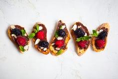 Berry bruschetta Stock Image