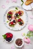Berry bruschetta Stock Photo