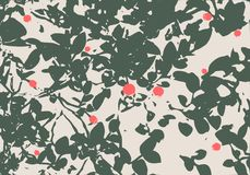 Berry bushes in forest. Summer season. Green plants. Vector illustration Royalty Free Stock Image
