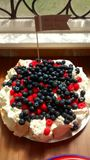 Berry cake. Cake baked for the wedding at Victoria Baths stock photos