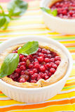 Berry cake in baking dish Royalty Free Stock Photography