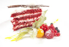 Berry cake dessert stock photography