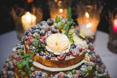 Berry Cake with Flower. Wedding berry cake with flower Royalty Free Stock Images