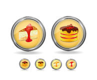 Berry cake icon set Stock Photo