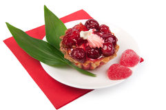 Berry cake with jelly Royalty Free Stock Images