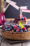 Berry cake with oats Stock Photography