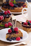 Berry cake with oats Stock Photos