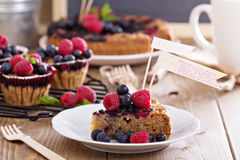 Berry cake with oats Royalty Free Stock Photo