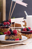 Berry cake with oats Royalty Free Stock Photos