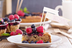 Berry cake with oats Royalty Free Stock Images