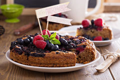 Berry cake with oats Stock Image