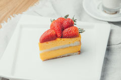 Berry cake. A piece of berry cake. Russia, Yekaterinburg royalty free stock photos
