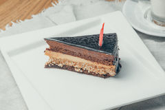 Berry cake. A piece of berry cake. Russia, Yekaterinburg royalty free stock images