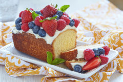 Berry cake with strawberry, raspberry and Royalty Free Stock Photography