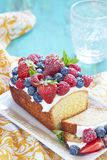 Berry cake with strawberry, raspberry and Stock Photo