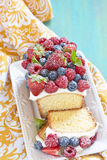 Berry cake with strawberry, raspberry and Stock Photos